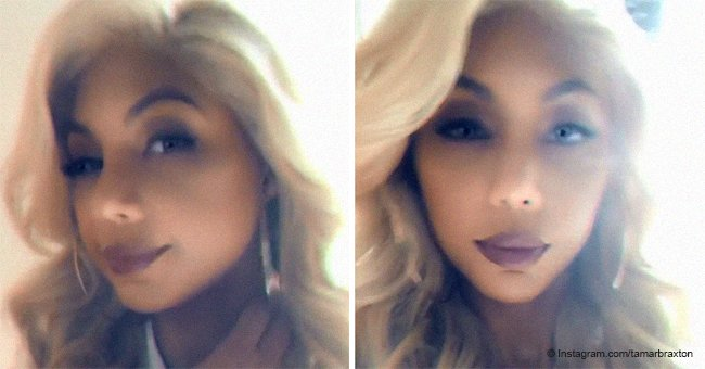 Tamar Braxton shows off new blonde wig while on date night with boyfriend