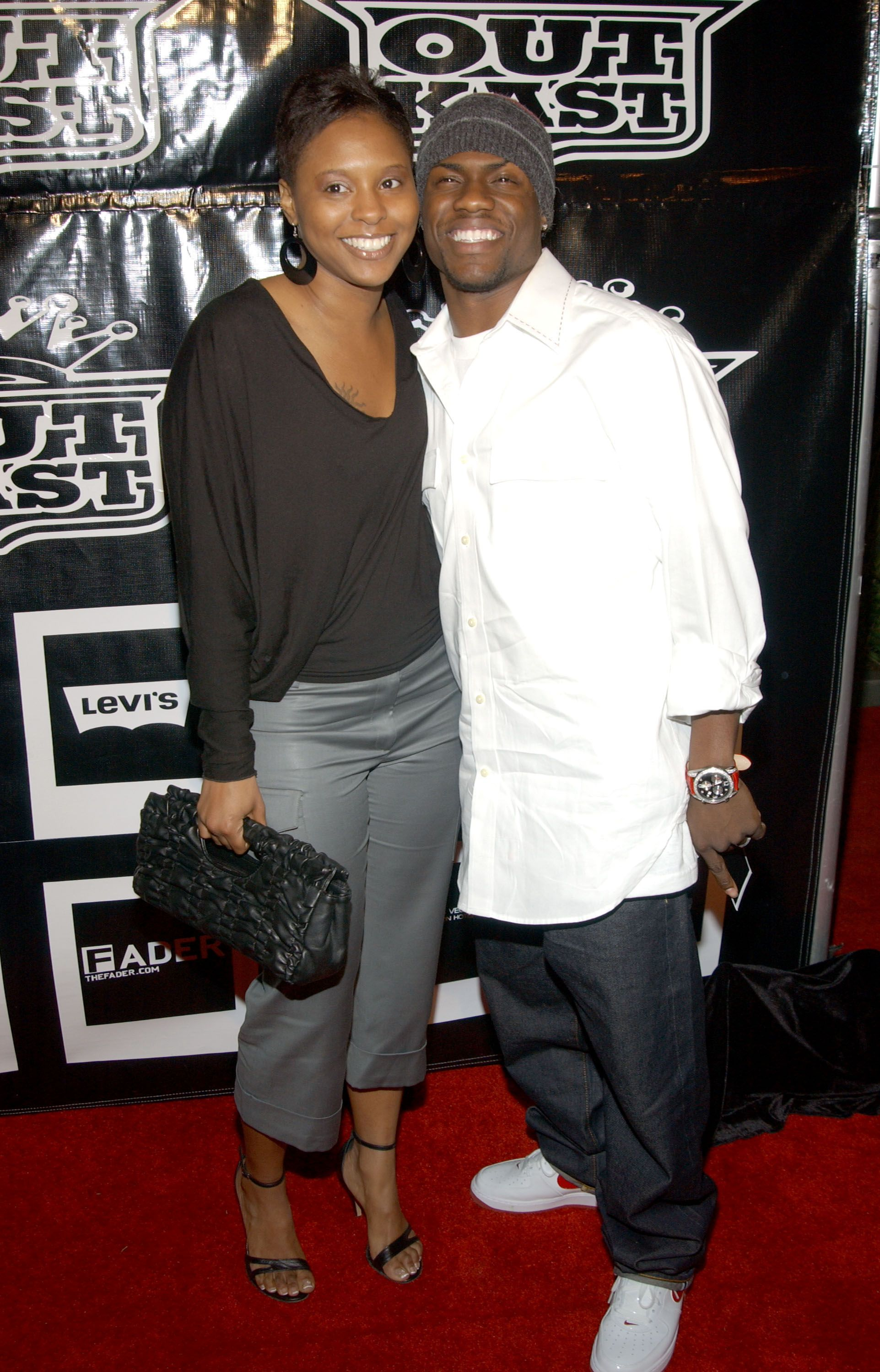 Kevin Hart and ex-wife Torrei during the Polaroid/OutKast 2004 Grammy party on February 08, 2004 | Photo: Getty Images