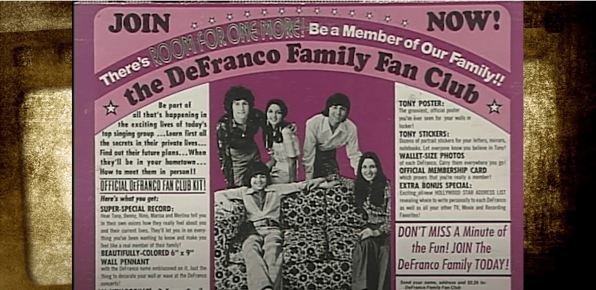 Photo of an advert poster for the DeFranco Family | Photo: Youtube /  YourTV Niagara