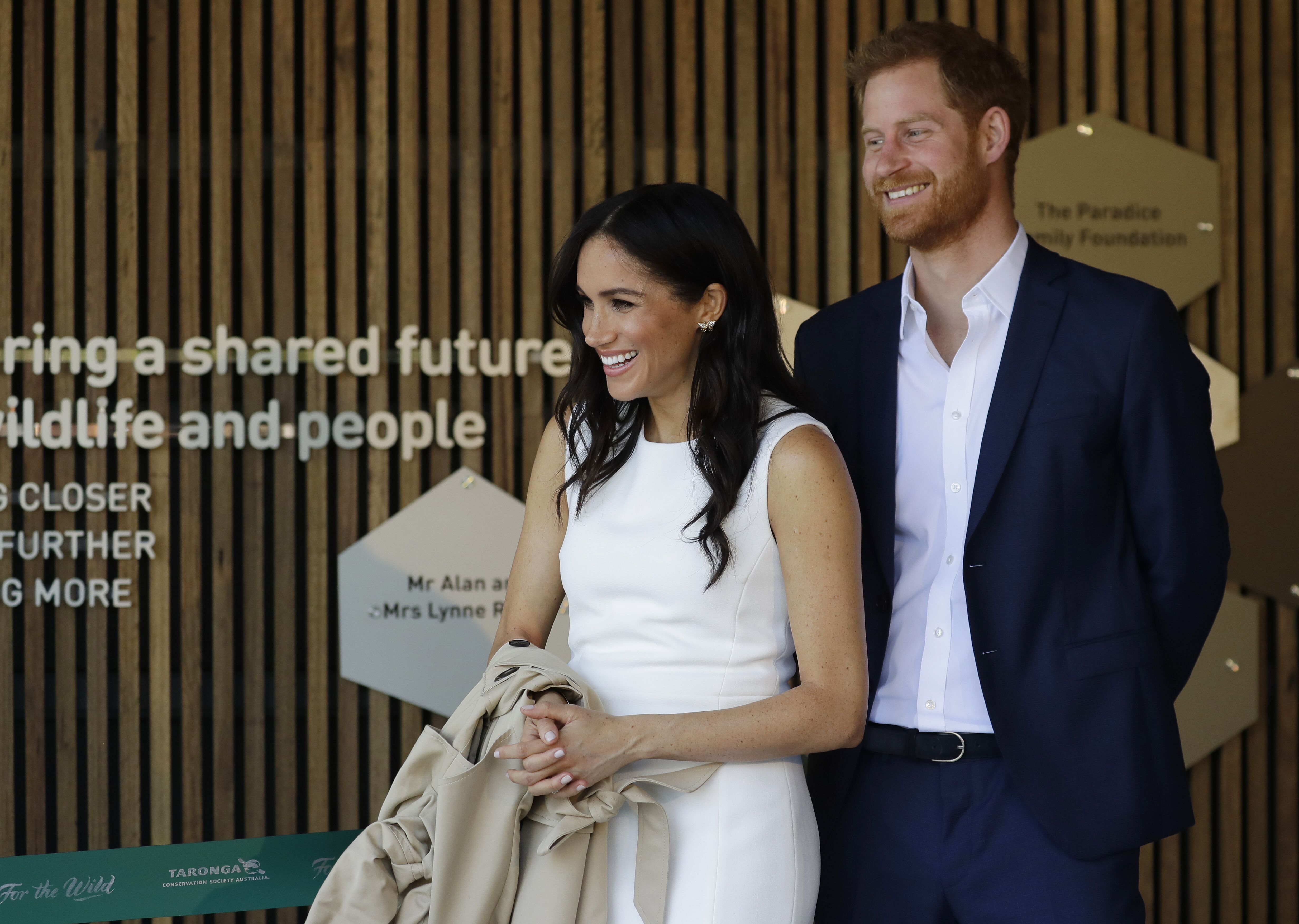 Prince Harry and Duchess Meghan at a ceremony held at Taronga Zoo on October 16, 2018, in Sydney, Australia | Photo: Kristy Wigglesworth/Getty Images