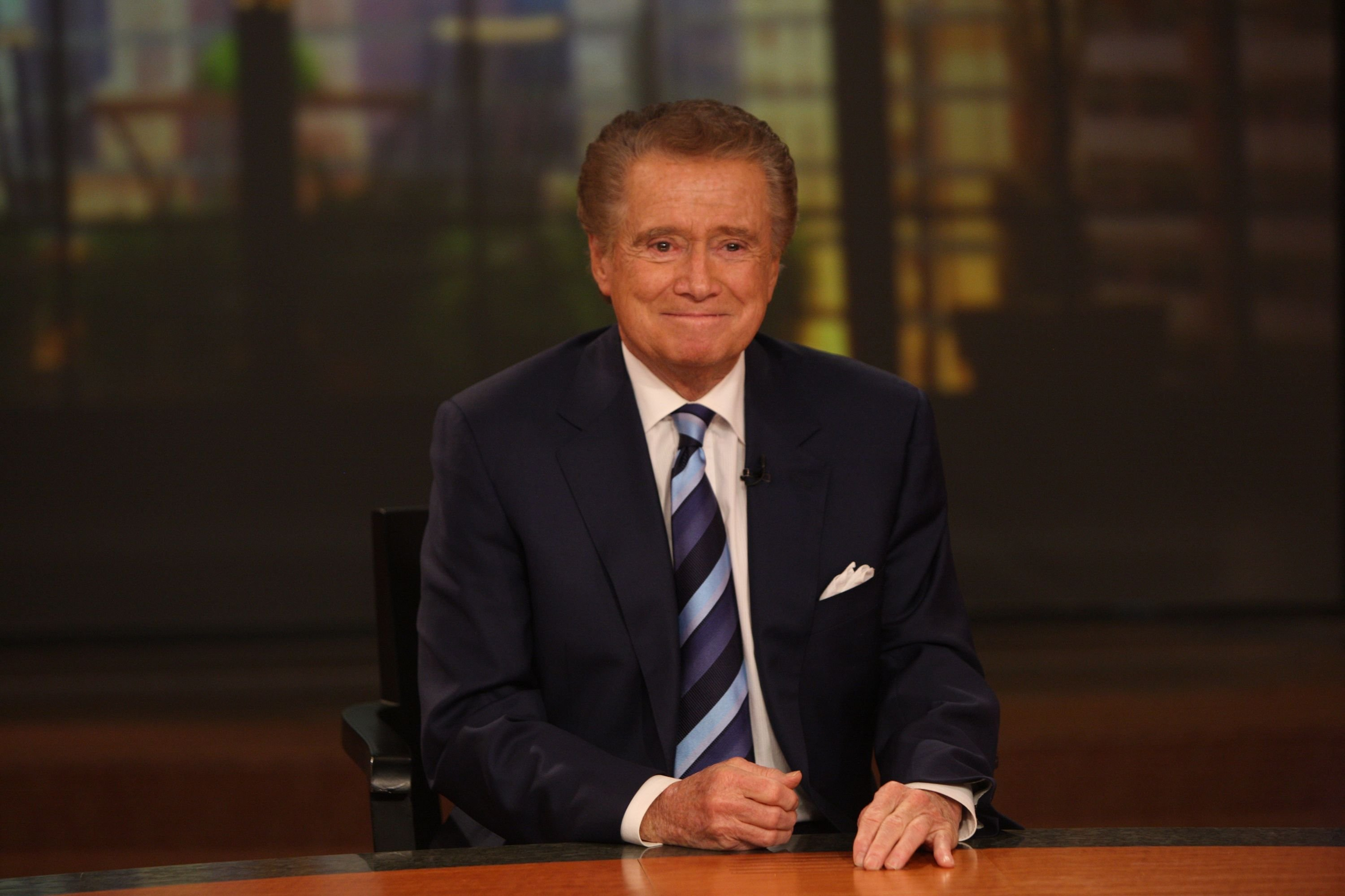 "Regis Philbin at a press conference on his departure from ""Live with Regis and Kelly"" at ABC Studios, in New York City  on November 17, 2011 