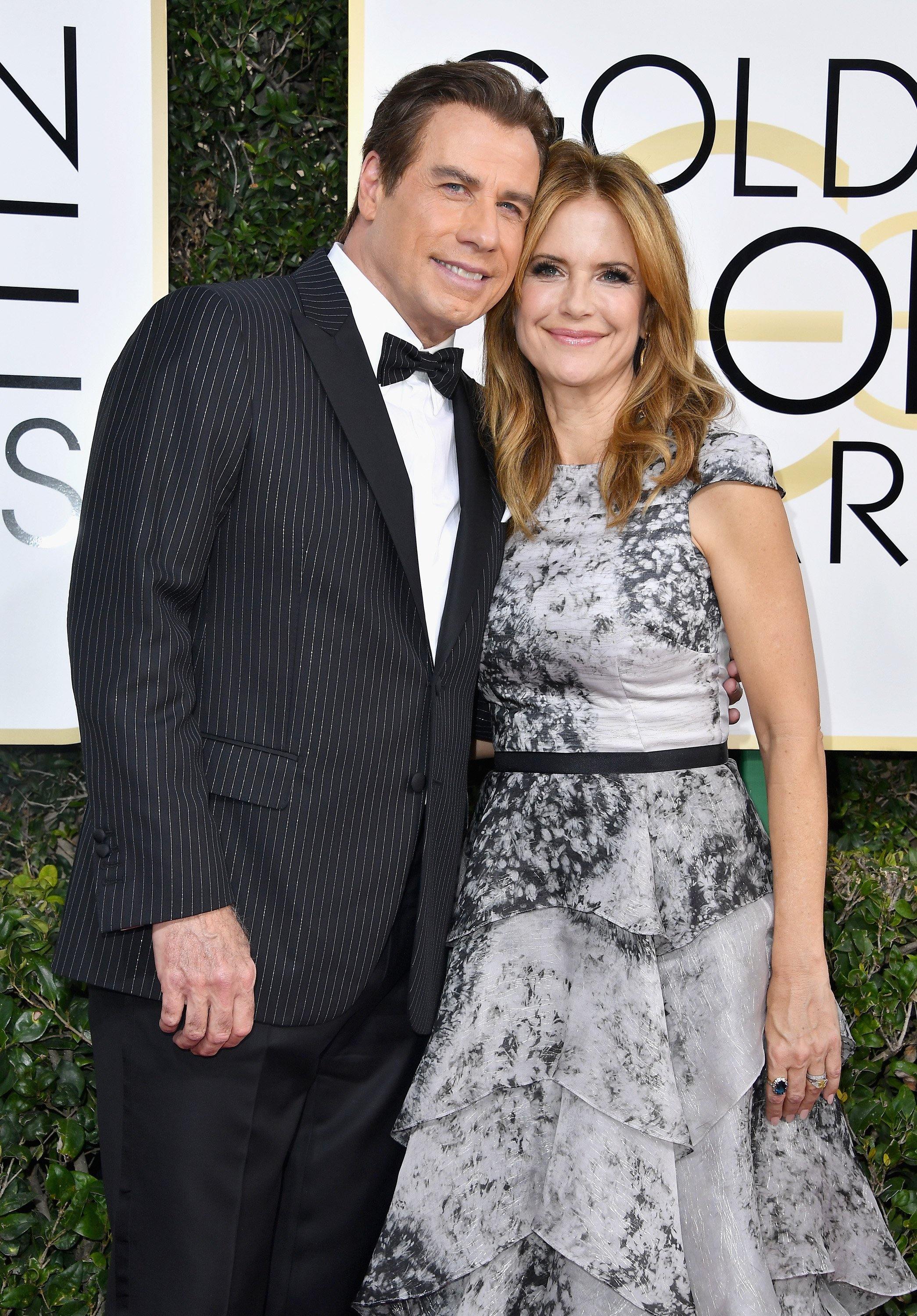 John Travolta and actress Kelly Preston attend the 74th Annual Golden Globe Awards on January 8, 2017, in Beverly Hills, California. | Source: Getty Images.