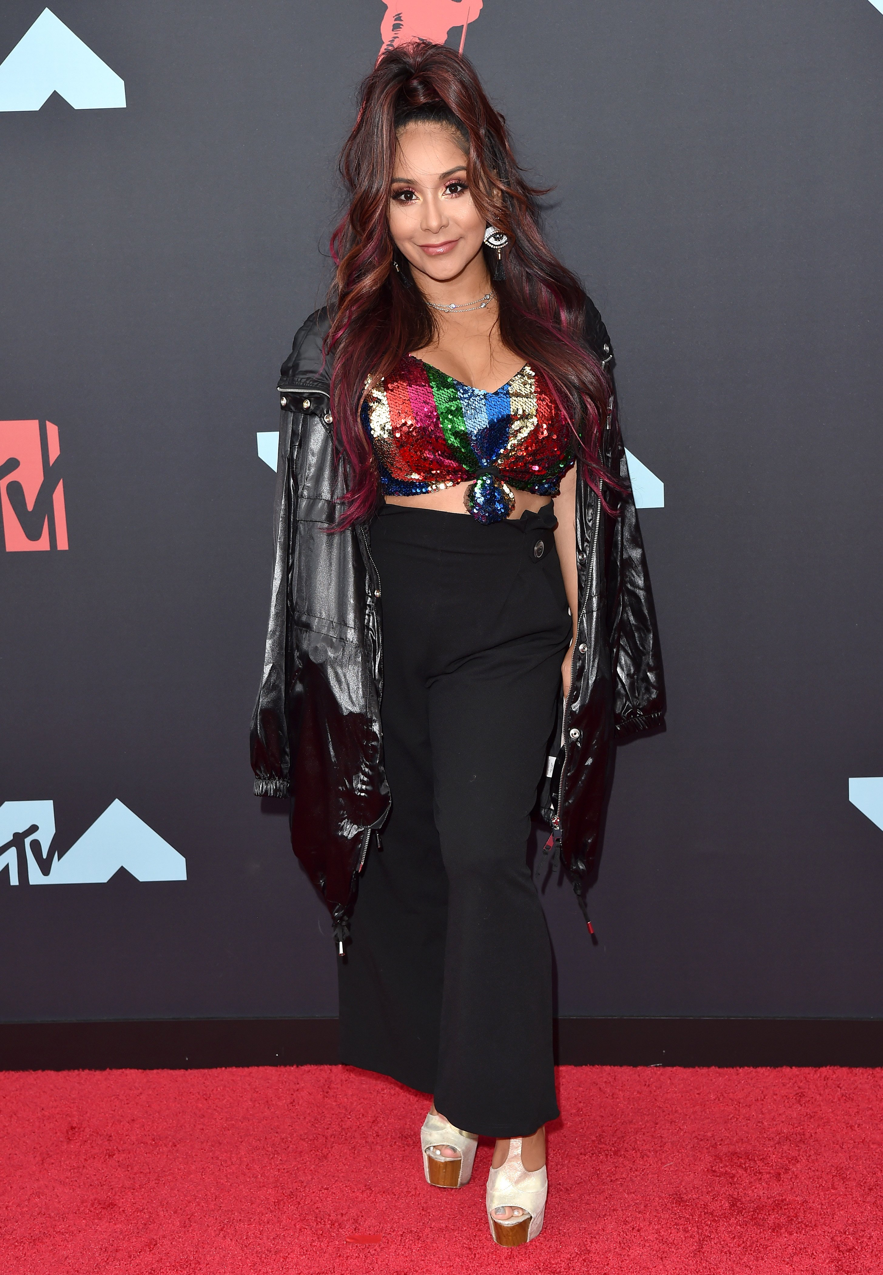 """Nicole """"Snooki"""" Polizzi attends the 2019 MTV Video Music Awards at Prudential Center on August 26, 2019 in Newark, New Jersey. 