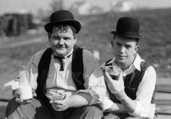 """Stan Laurel und Oliver Hardy, """"The Finishing Touch"""", 1928 