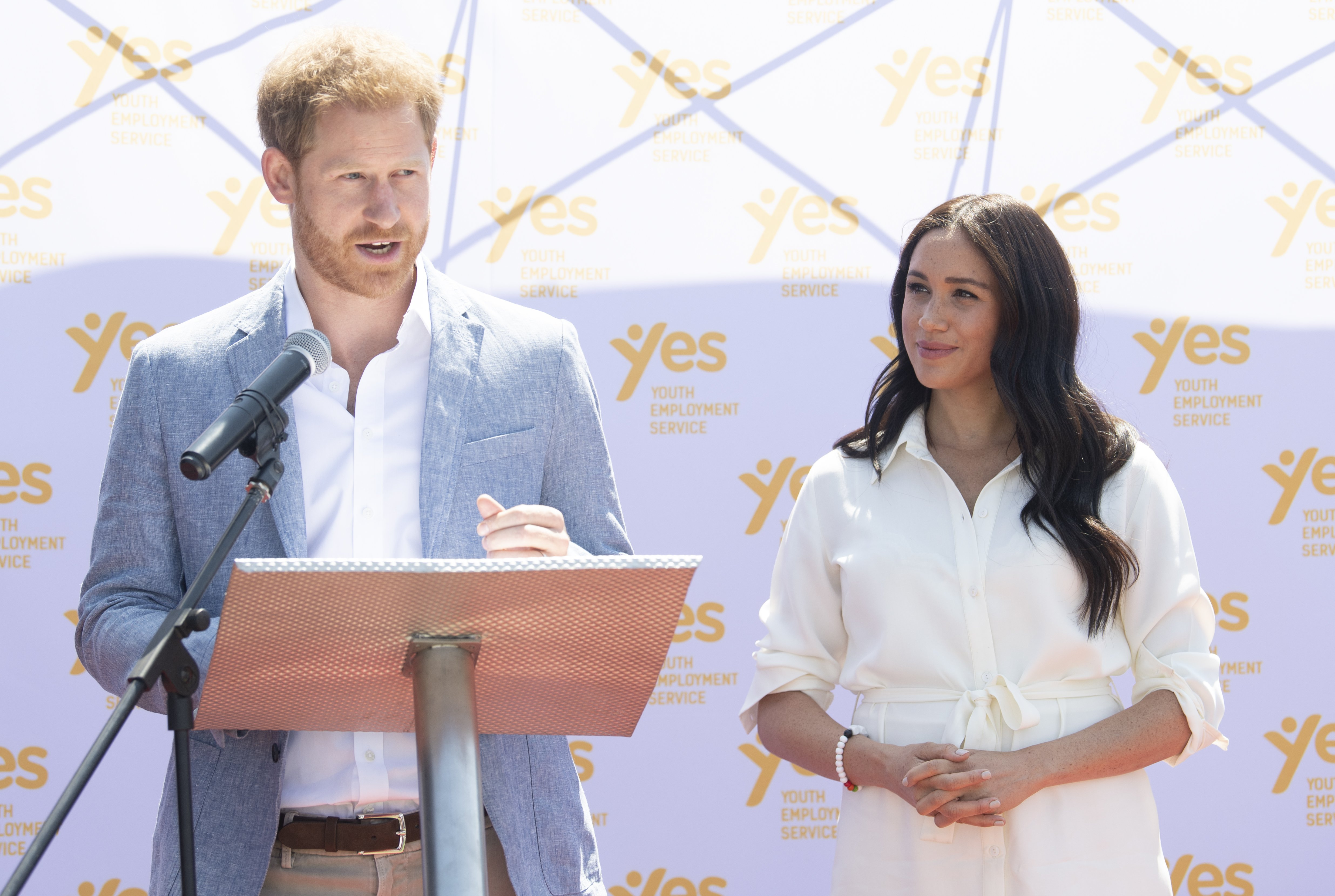 Prince Harry and Meghan visit Tembisa township to learn about Youth Employment Services (YES) on October 2, 2019 in Johannesburg, South Africa. | Source: Getty Images