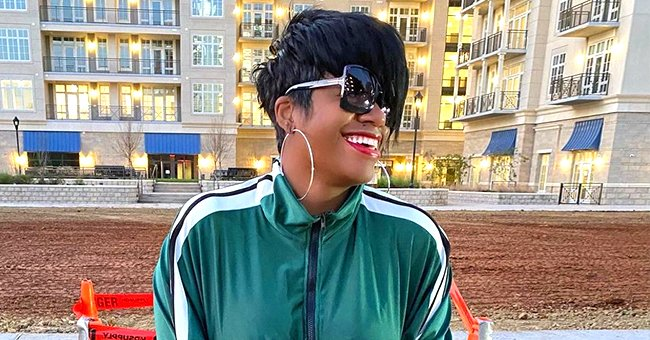 Fantasia's Daughter Zion Rocks Long Hair with Ripped Black Jeans and a Matching Top (Photo)