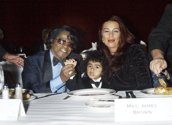 """Late singer James Brown, his son and wife the """"Keepers of the Dream"""" gala dinner  