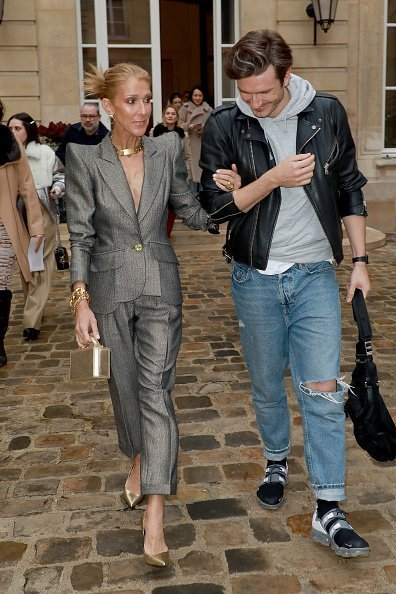 Celine Dion et Pepe Munoz au défilé de mode à Paris | Photo: Getty Images