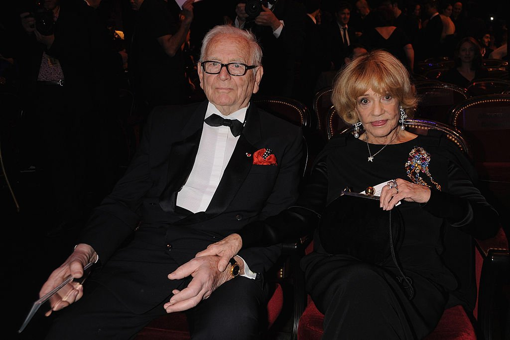 Pierre Cardin et Jeanne Moreau, le 22 février 2008. | Photo : Getty Images
