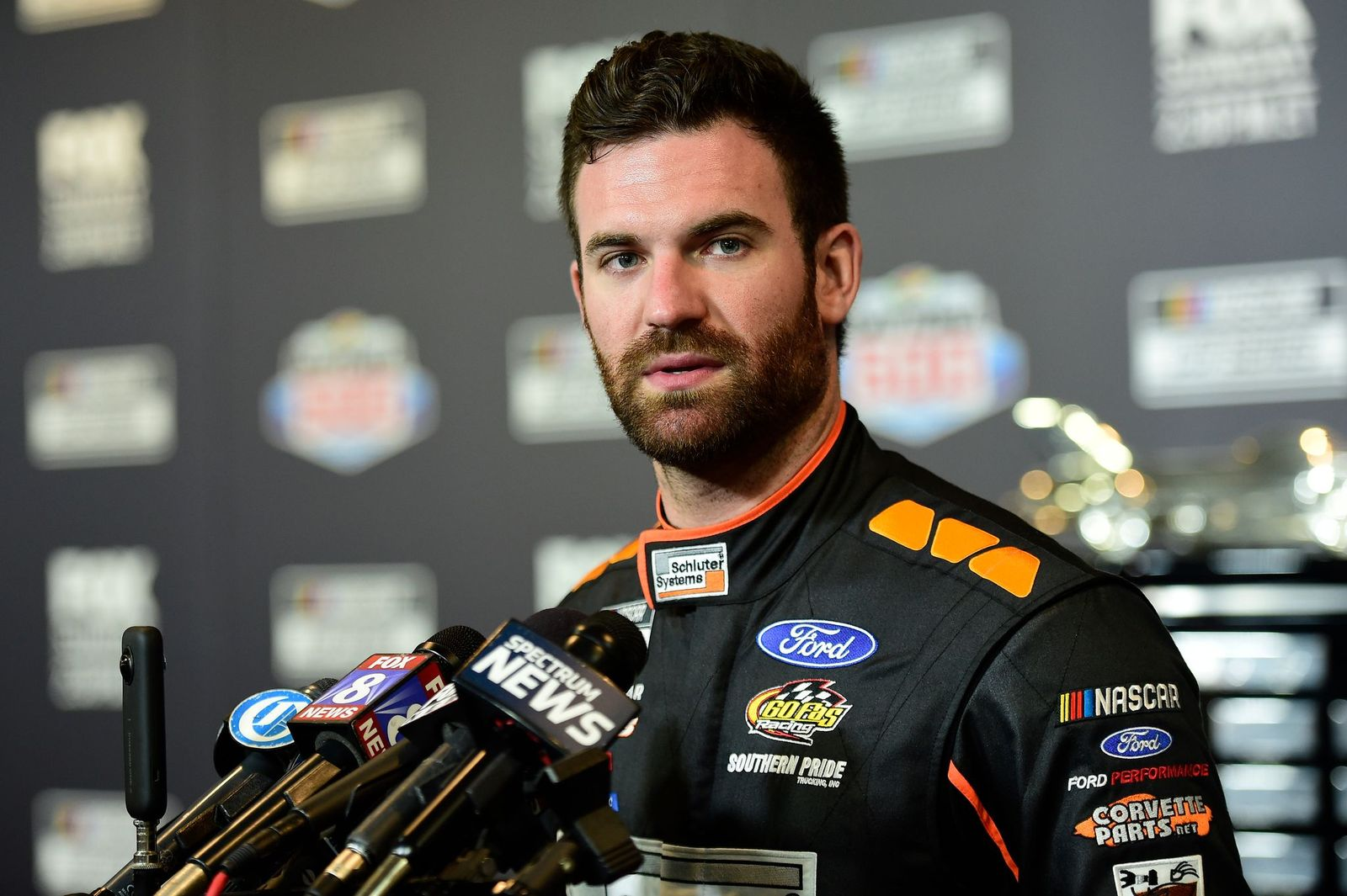 Corey LaJoie at the NASCAR Cup Series 62nd Annual Daytona 500 Media Day on February 12, 2020, in Daytona Beach, Florida | Photo: Jared C. Tilton/Getty Images