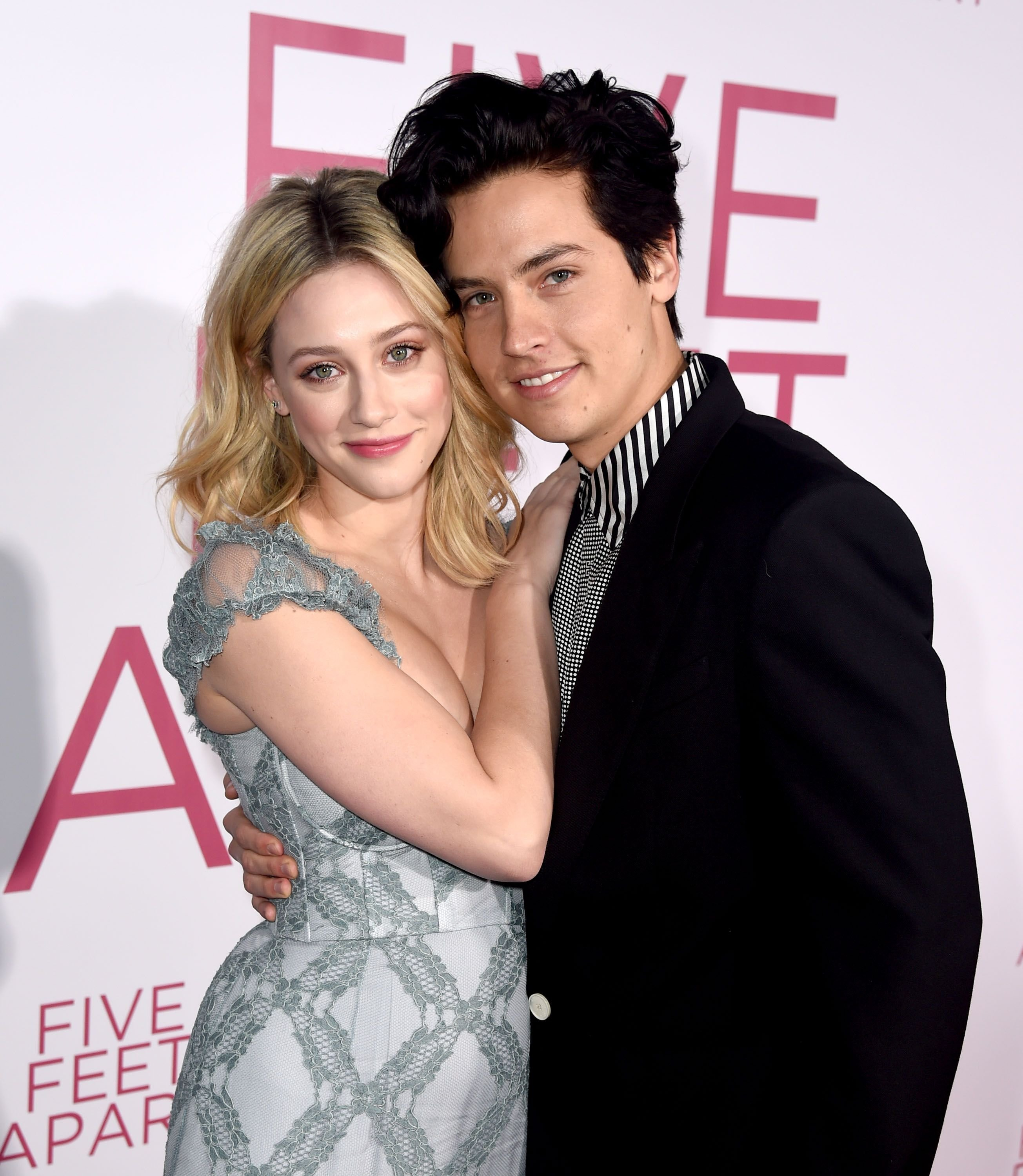 """Lili Reinhart and Cole Sprouse at the premiere of """"Five Feet Apart"""" in 2019 in Los Angeles, California 