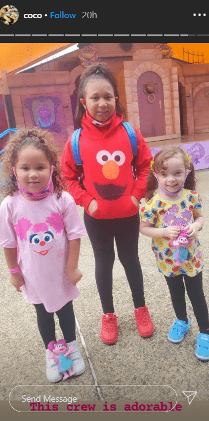 Chanel Nicole with two of her friends on a fun day at the amusement park. | Photo: Instagram/Coco