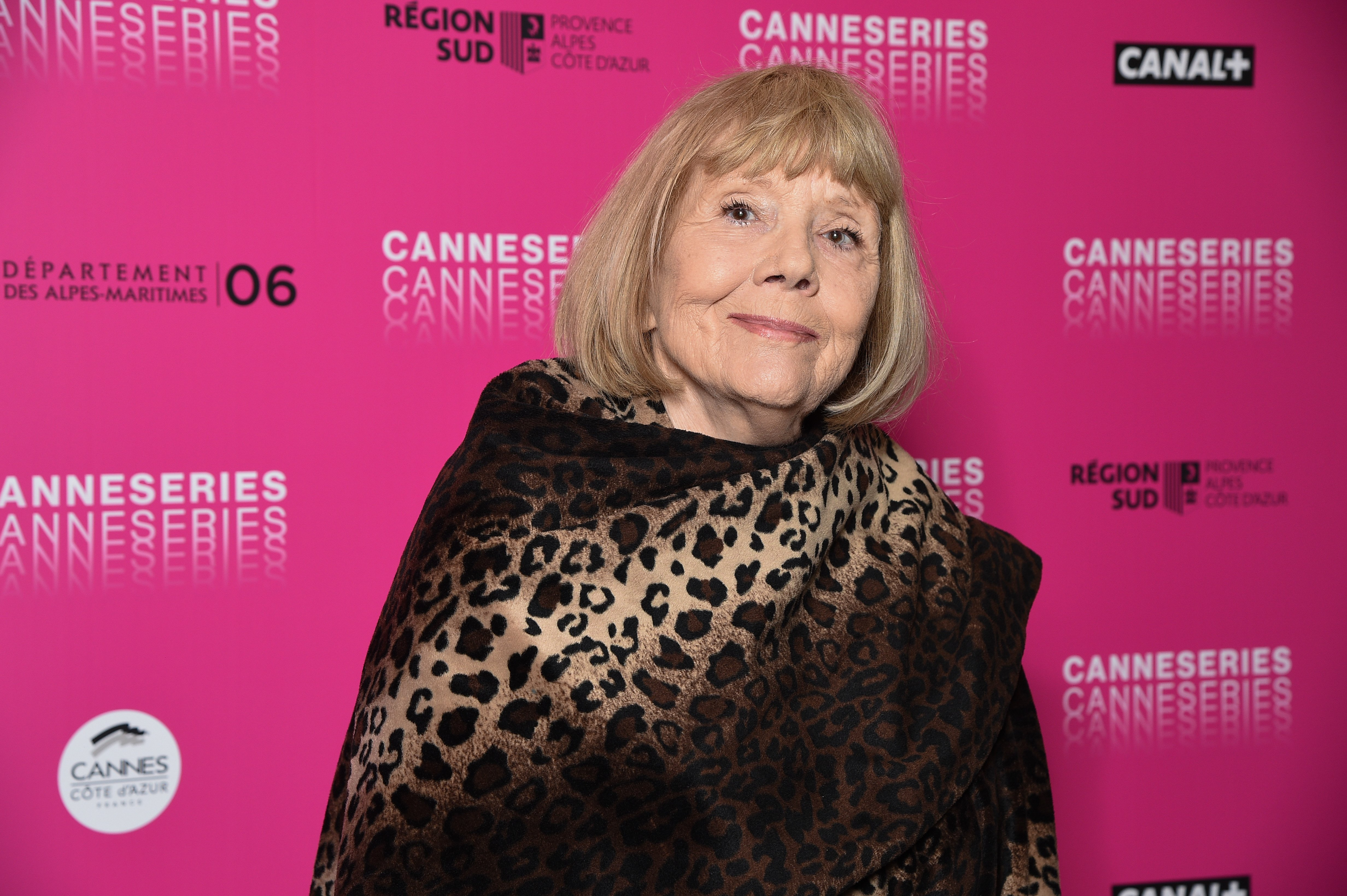 Dame Diana Rigg attends the 2nd Canneseries - International Series Festival : Day Two on April 06, 2019, in Cannes, France. | Source: Getty Images.