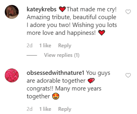 More fan comments on Christopher Knights post | Instagram: @christopherknightbrands