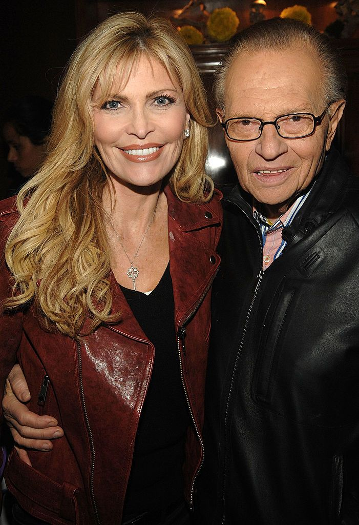Shawn Southwick-King and Larry King during Natalie Cole's 60th Birthday Party on February 1, 2010 in Beverly Hills, California. | Source: Getty Images