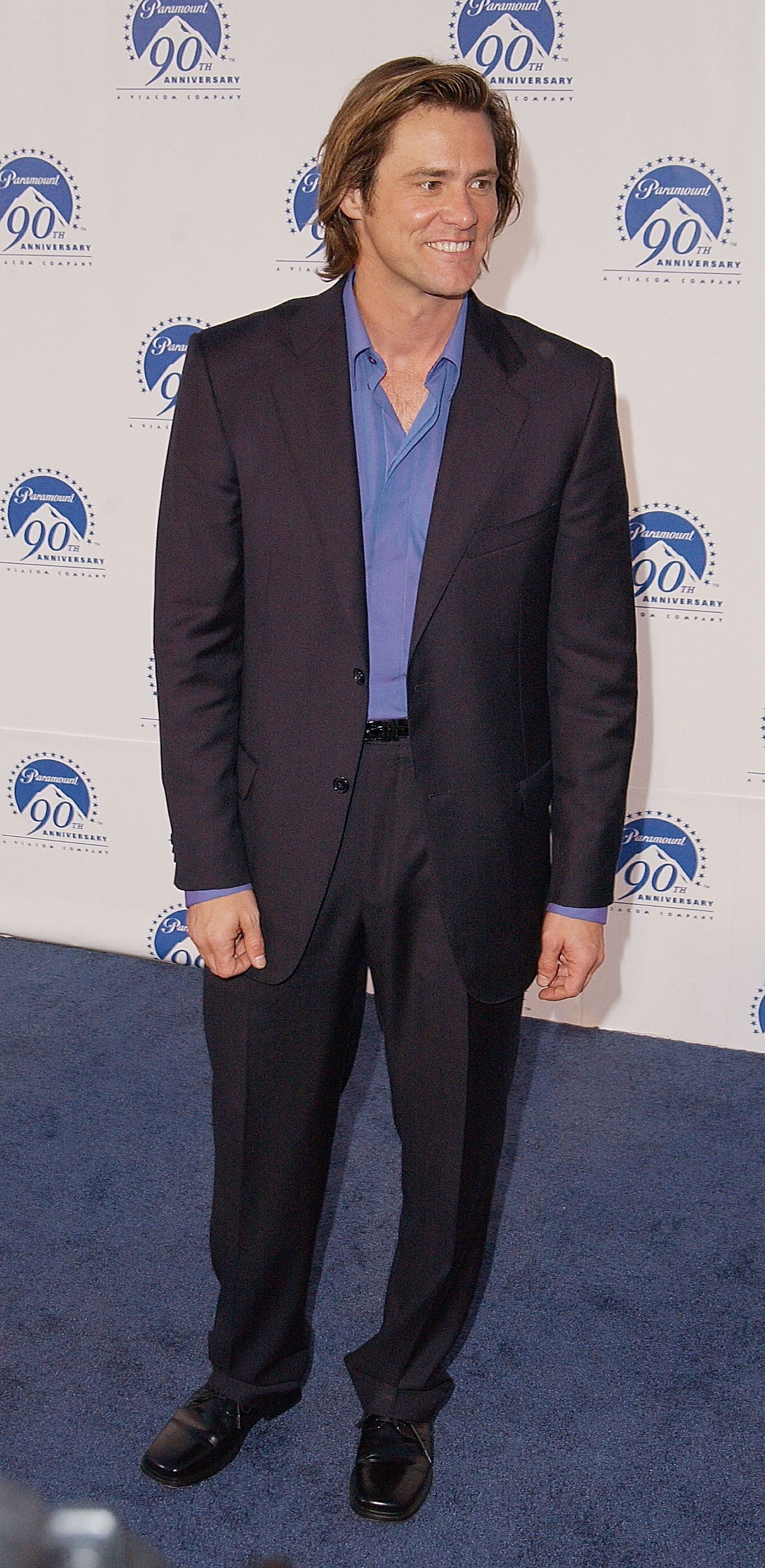 "Jim Carrey attends Paramount Pictures' ""90 Stars for 90 Years"" Anniversary Celebration at the Paramount Pictures Studios in 2012 