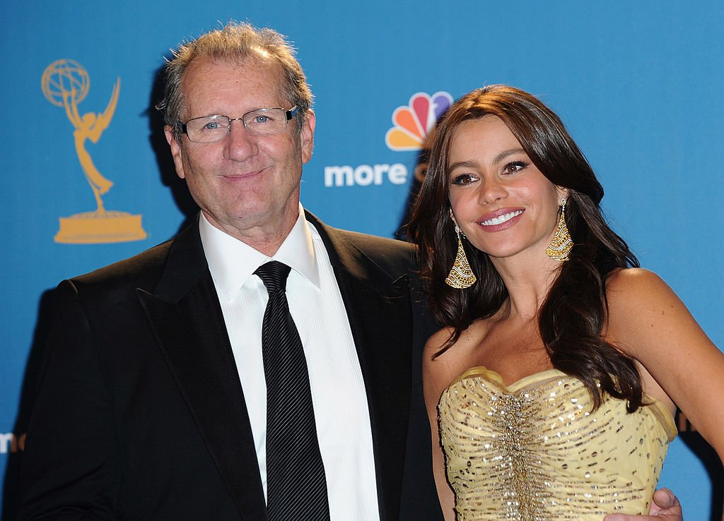 Ed O'Neil and Sofia Vergara at the 62nd Annual Primetime Emmy Awards held at the JW Marriott Los Angeles on August 29, 2010 in California.   Photo: Getty Images