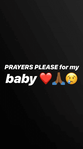 Alexis Skyy's Instagram Story asking her followers to pray for her daughter   Source: Instagram Stories/Alexis Skyy