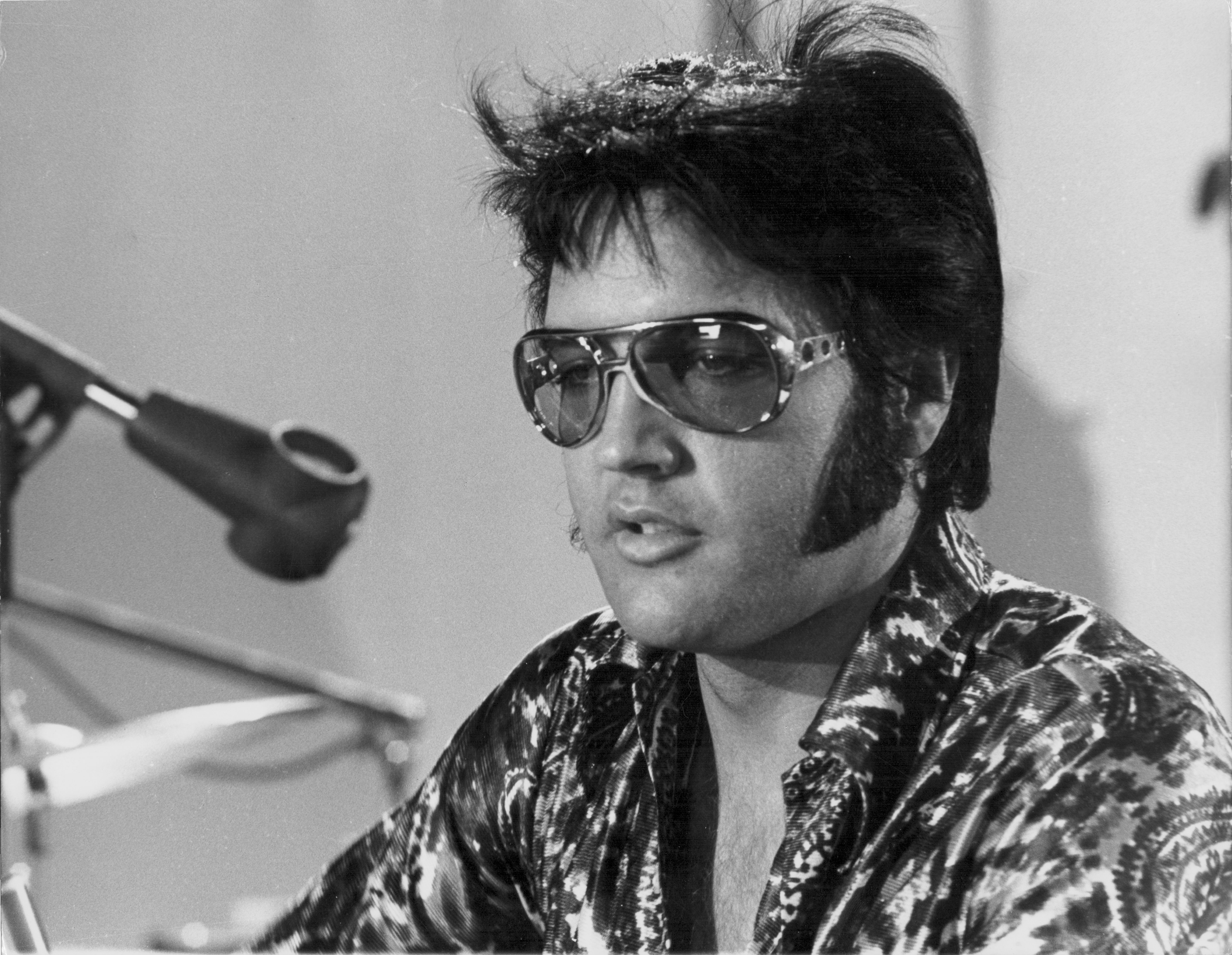 Elvis Presley in the documentary film 'Elvis; That's The Way It Is' in 1970   Source: Getty Images