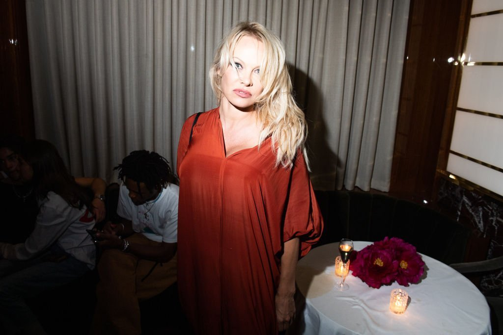 Pamela Anderson attends the cocktail party hosted by Chrome Hearts X Jordan Barrett at La Maison Du Caviar on June 22, 2019. Photo: Getty Images