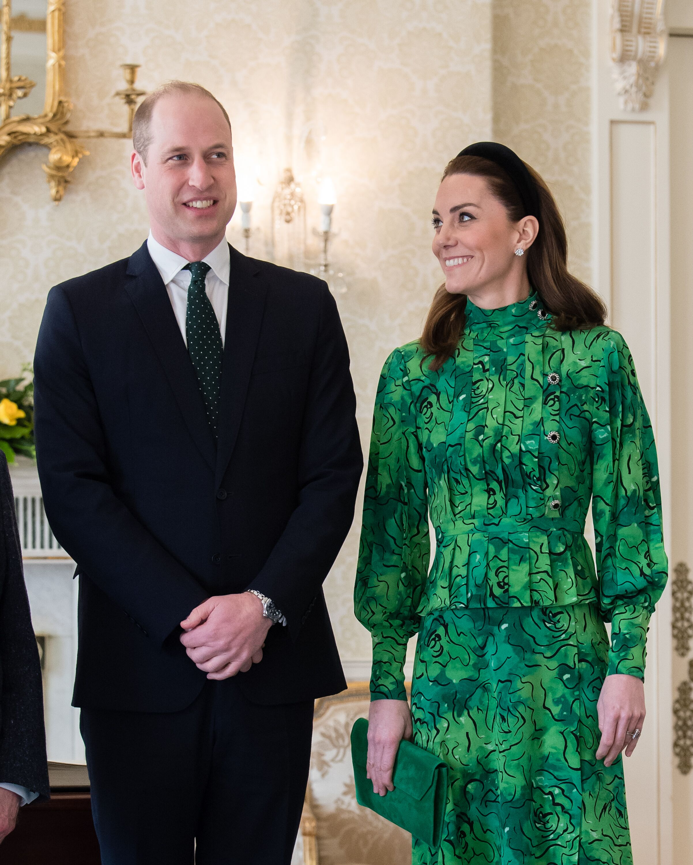 Catherine, Duchess of Cambridge and Prince William, Duke of Cambridge attend a meeting with the President of Ireland at Áras an Uachtaráin on March 03, 2020 | Photo: Getty Images