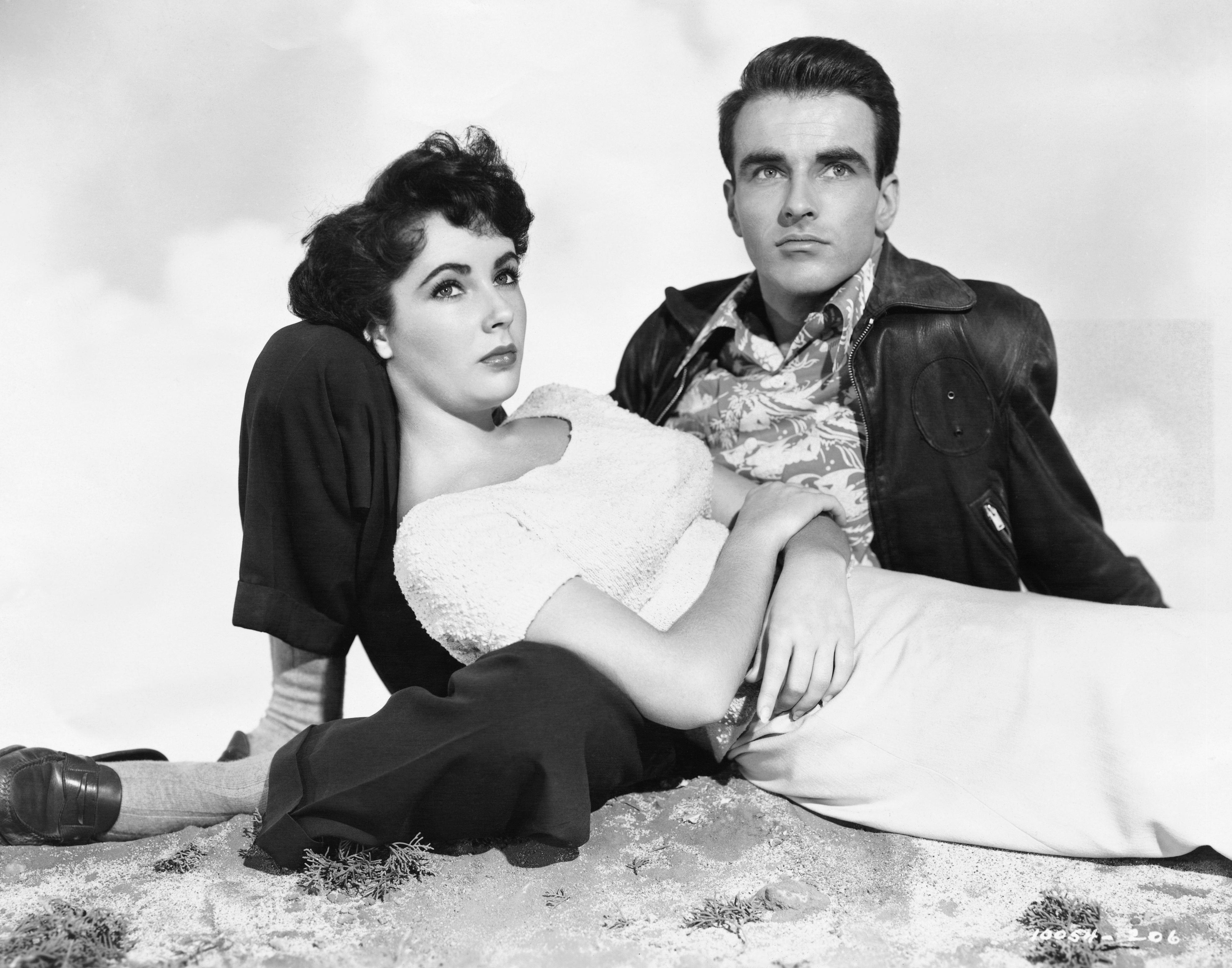 """Elizabeth Taylor and Montgomery Clift  in the 1951 film """"A Place in the Sun"""" on  01 January, 1951   Photo: Getty Images"""