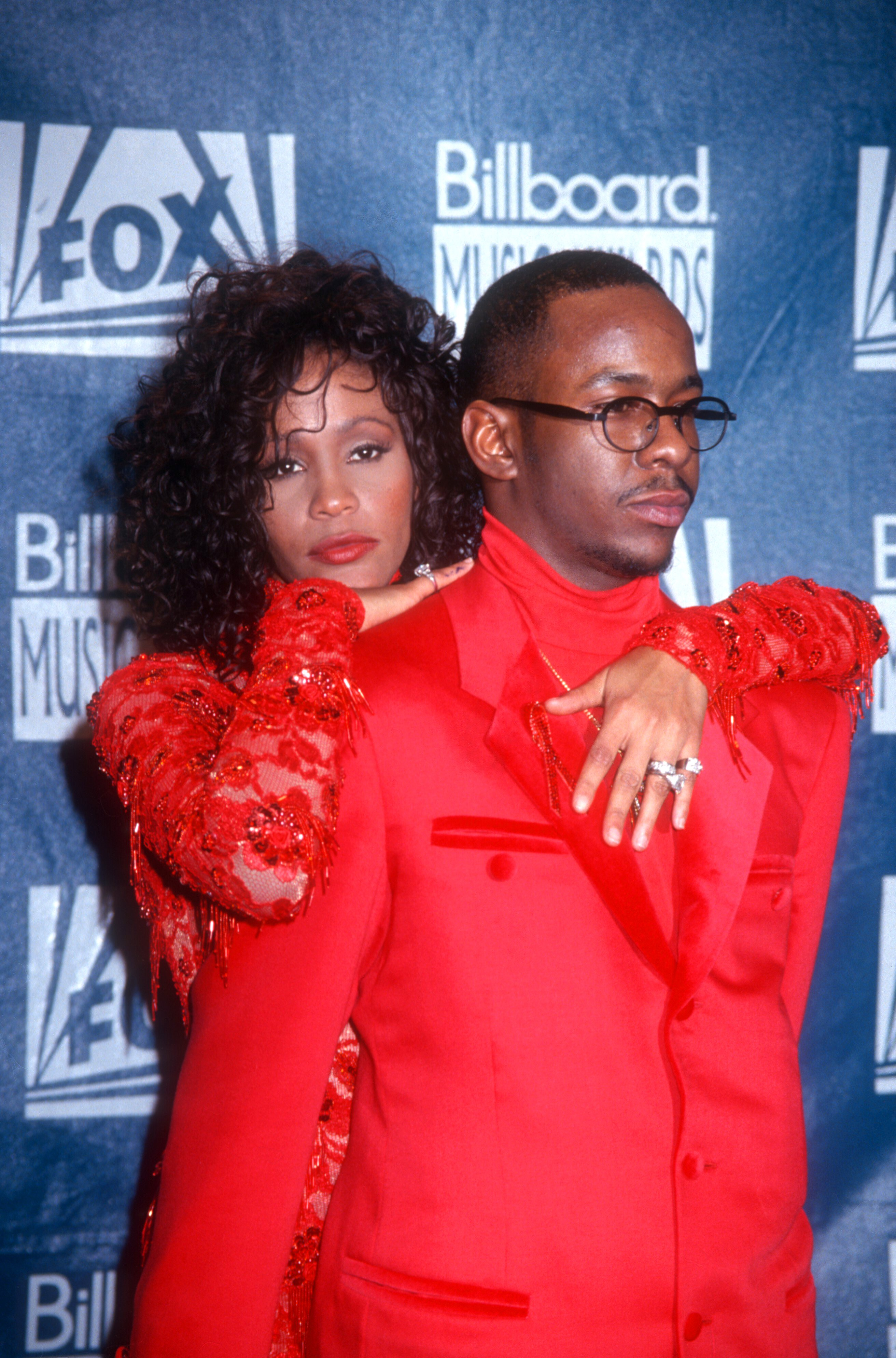 Bobby Brown and Whitney Houston at the 1993 Billboard Music Awards at the Universal Amphitheater, California   Photo: Getty Images