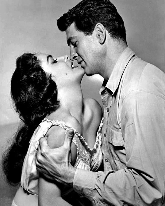 "Rock Hudson and Elizabeth Taylor in ""Giant"" in 1956 