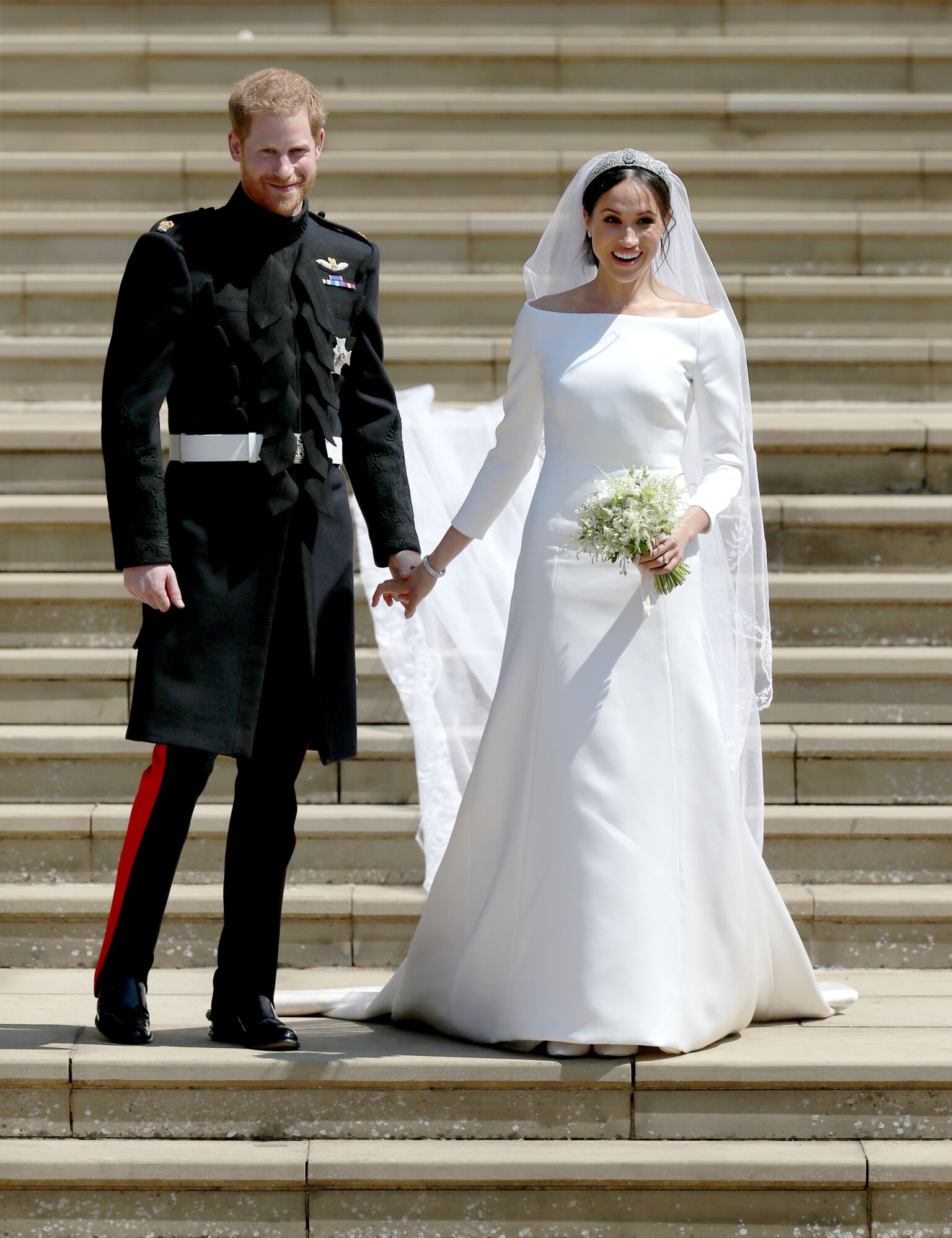 Prince Harry and Meghan Markle leaving the church on their wedding day | Getty Images / Global Images Ukraine