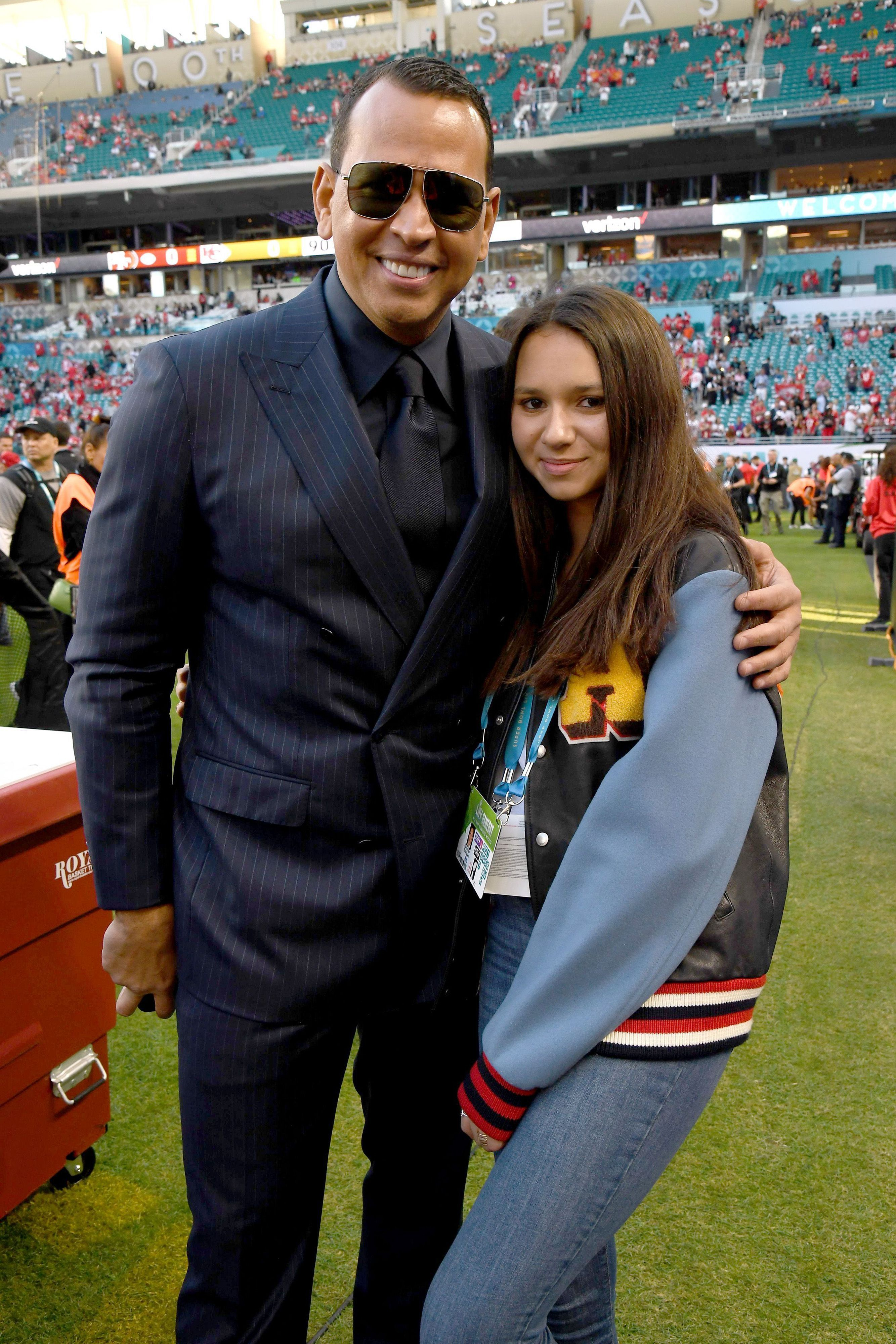 Alex Rodriguez and Natasha Alexander Rodriguez attend Super Bowl LIV at Hard Rock Stadium on February 02, 2020, in Miami Gardens, Florida. | Source: Getty Images.