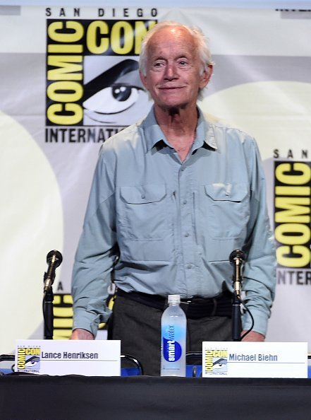 "Lance Henriksen attends the ""Aliens: 30th Anniversary"" panel during Comic-Con International 2016 at San Diego Convention Center on July 23, 2016, in San Diego, California. 