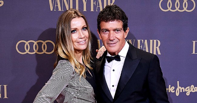 Antonio Banderas Poses with Younger Girlfriend Nicole Kimpel and Daughter Stella at the Vanity Fair Awards