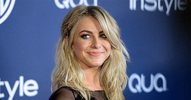 Julianne Hough Shows off Her Legs in a Sparkling Off-the-Shoulder Mini-Dress