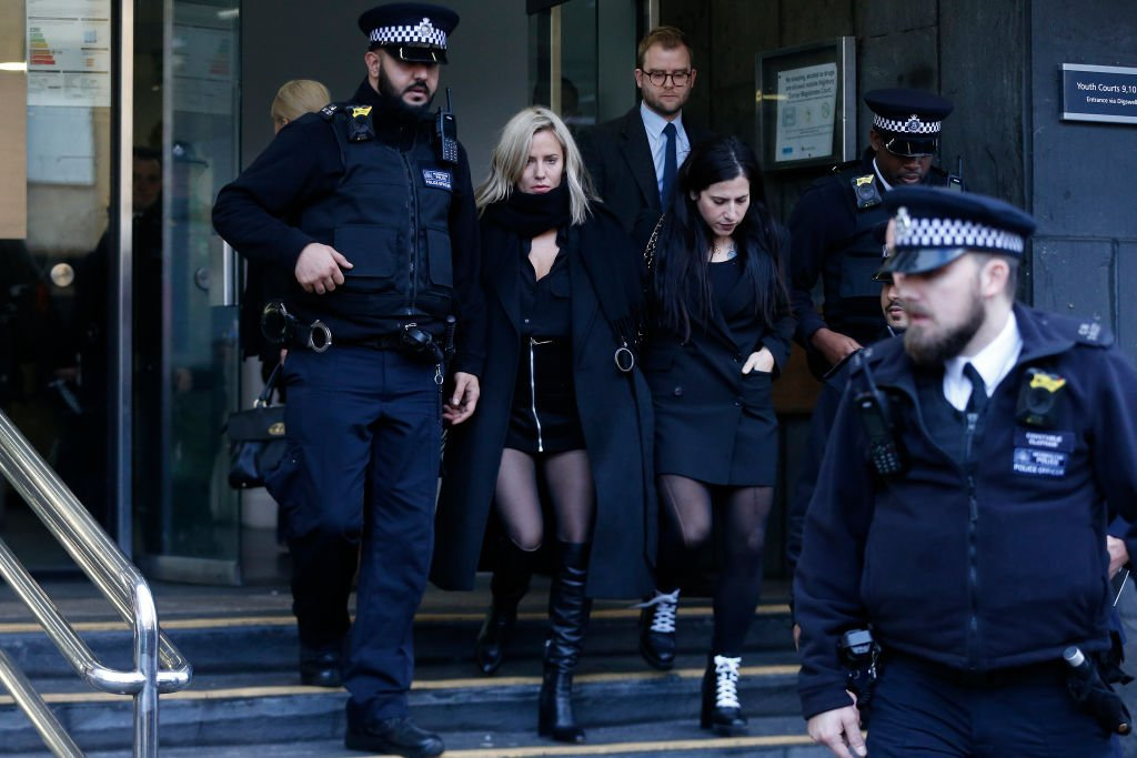 Caroline Flack leaves Highbury Corner Magistrates Court after facing an assault charge on December 23, 2019, in London, England | Source: Hollie Adams/Getty Images