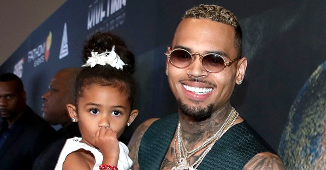 Chris Brown Spends Time with His 2 Kids & Fans Are Surprised Son Aeko Is Already Walking
