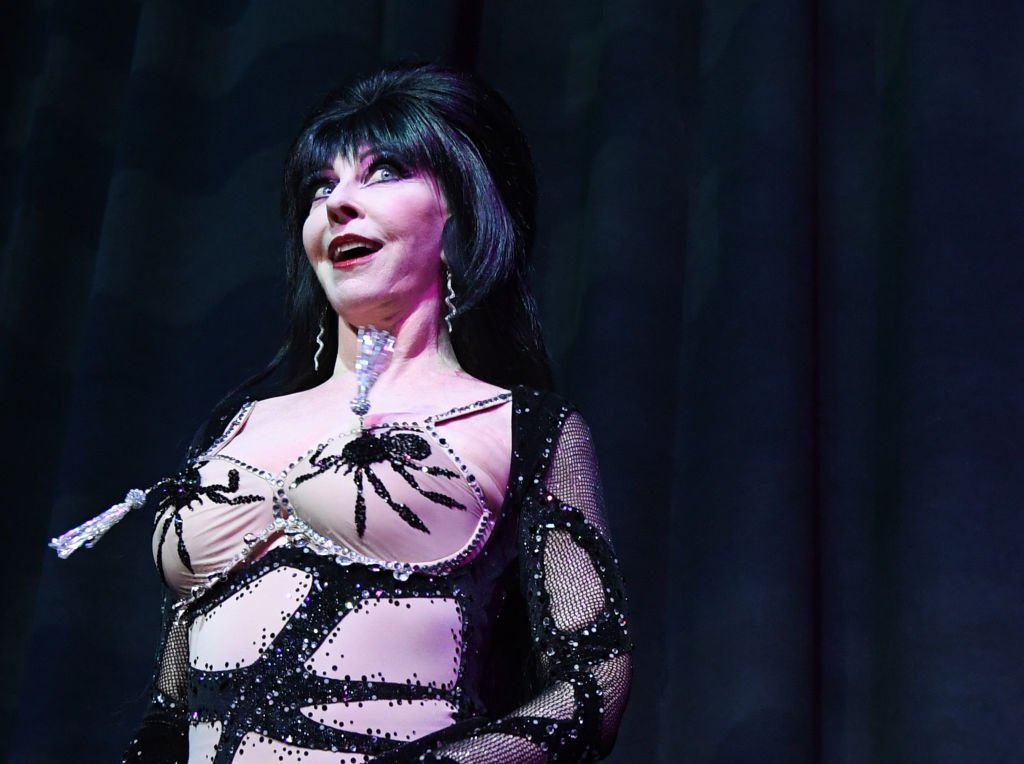 """Cassandra """"Elvira, Mistress of the Dark"""" Peterson at the Orleans Arena on April 20, 2018. 