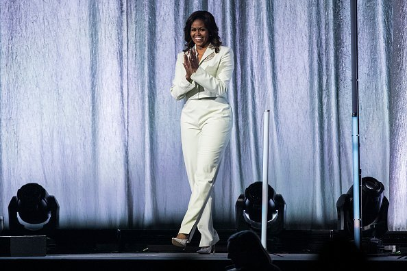 Michelle Obama at the Ericsson Globe Arena on April 10, 2019 in Stockholm, Sweden | Photo: Getty Images
