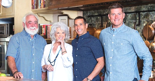 Paula Deen Is All Smiles Surrounded by Husband Michael Groover and Her Sons (Photo)