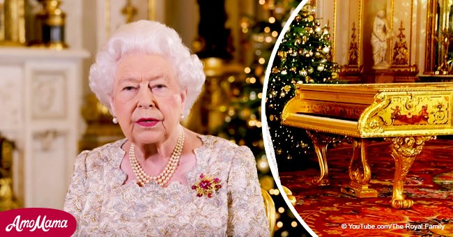 Queen faces backlash over gold piano spotted by eagle-eyed fans during her Christmas speech