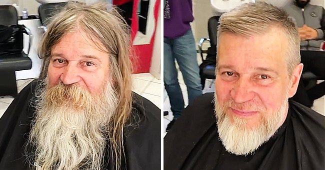 Homeless Man Gets Dramatic Makeover with the Help of a Talented Hairstylist