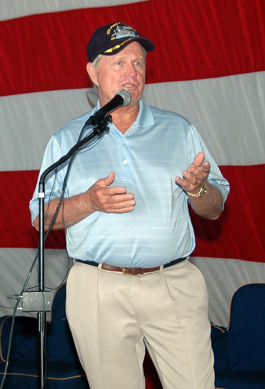 Nicklaus met with Mayport-area Sailors and received a personal tour of the Kennedy by Commanding Officer Capt. Todd A. Zecchin.   Photo: Wikimedia Commons