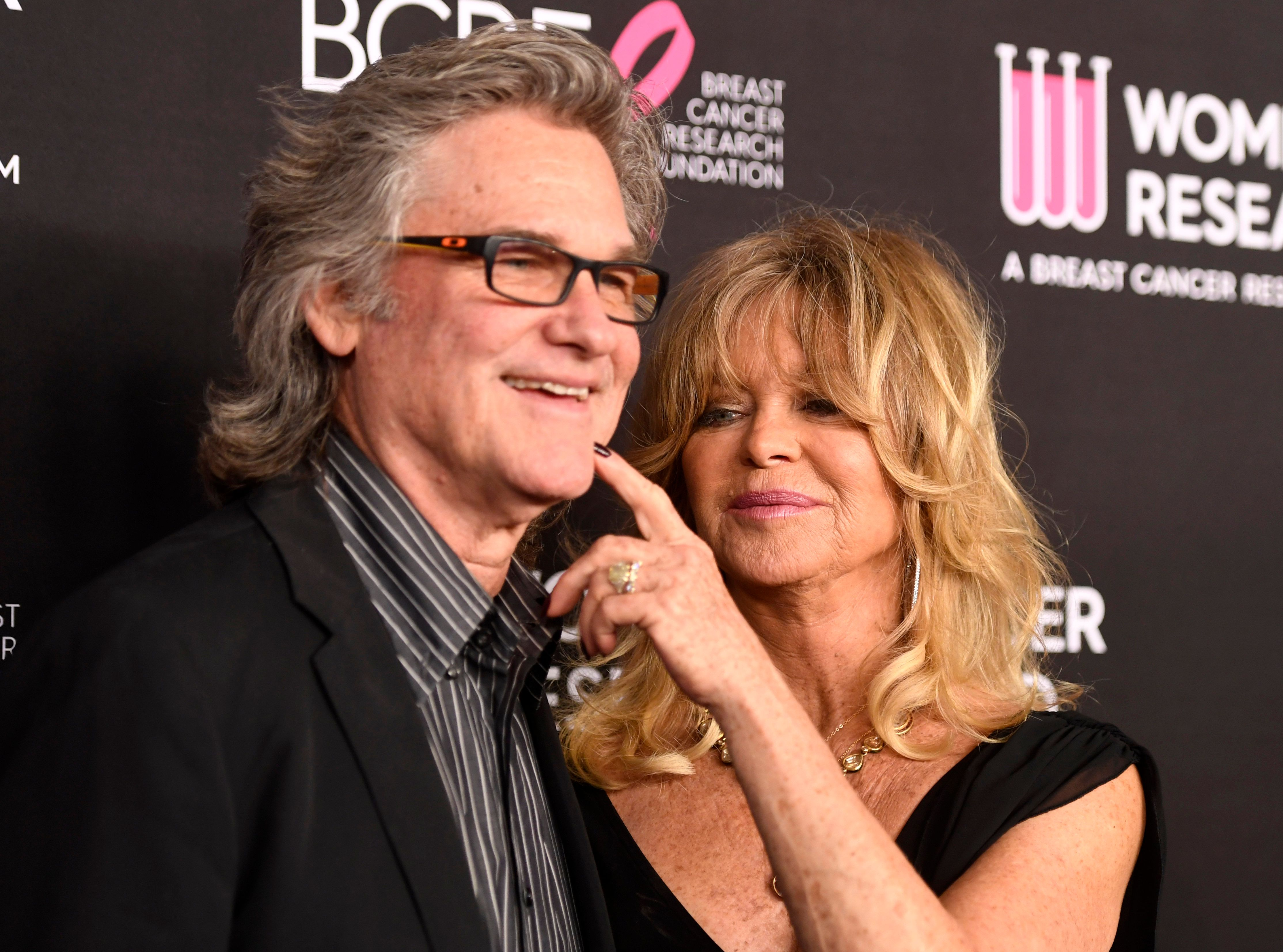 Kurt Russell and Goldie Hawn at The Women's Cancer Research Fund's An Unforgettable Evening Benefit Gala at the Beverly Wilshire Four Seasons Hotel on February 28, 2019   Photo: Getty Images