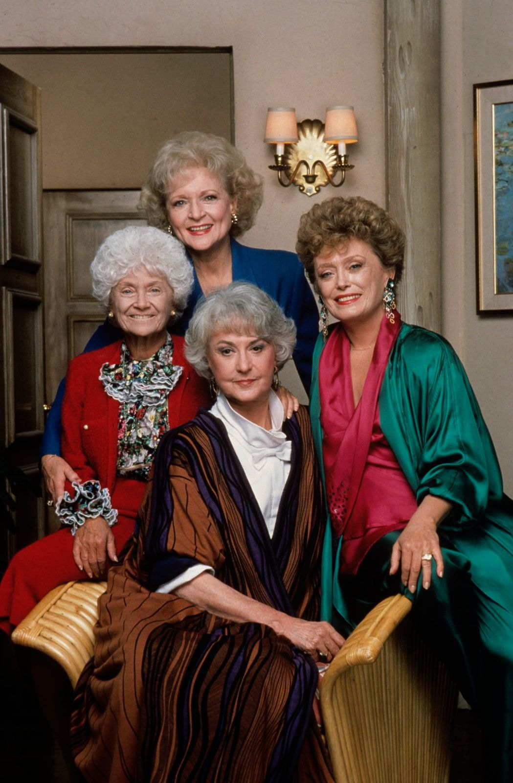 Betty White (Rose); Estelle Getty (Sophia), Rue McClanahan (Blanche); Bea Arthur (Dorothy). Picture uploaded on April 8, 2008 | Photo: Walt Disney Television/Getty Images