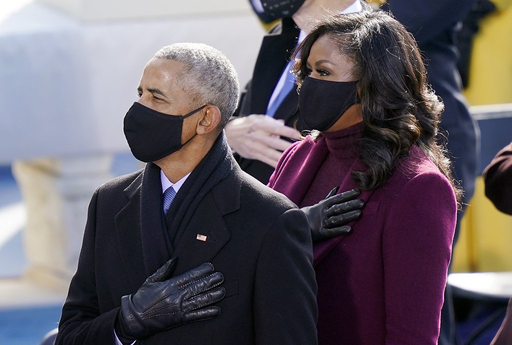 Michelle and Barack Obama pictured and Joe Biden's Presidential Inauguration Day, 2021. | Photo: Getty Images