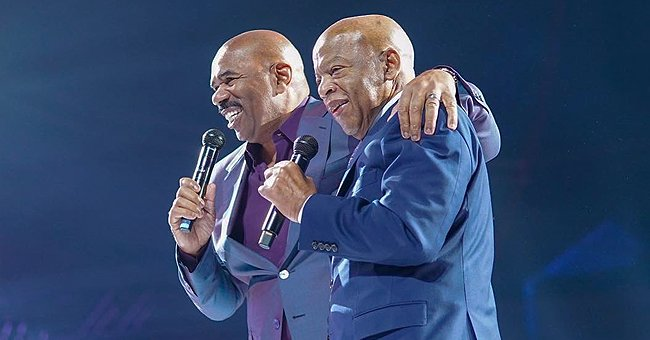 See Steve Harvey's Touching Tribute to the Late Civil Rights Icon John Lewis