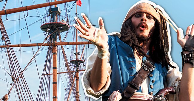 The pirate captain and his crew were sailing in the open ocean | Shutterstock