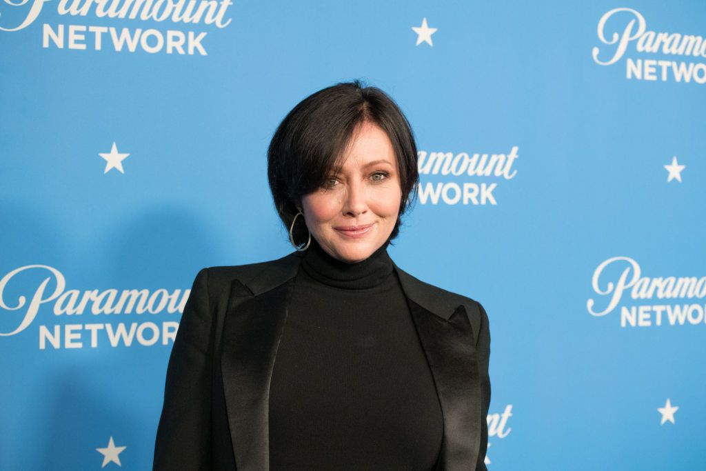 Actress Shannen Doherty at the Paramount Network Launch Party at Sunset Tower on January 18, 2018   Photo: Getty Images