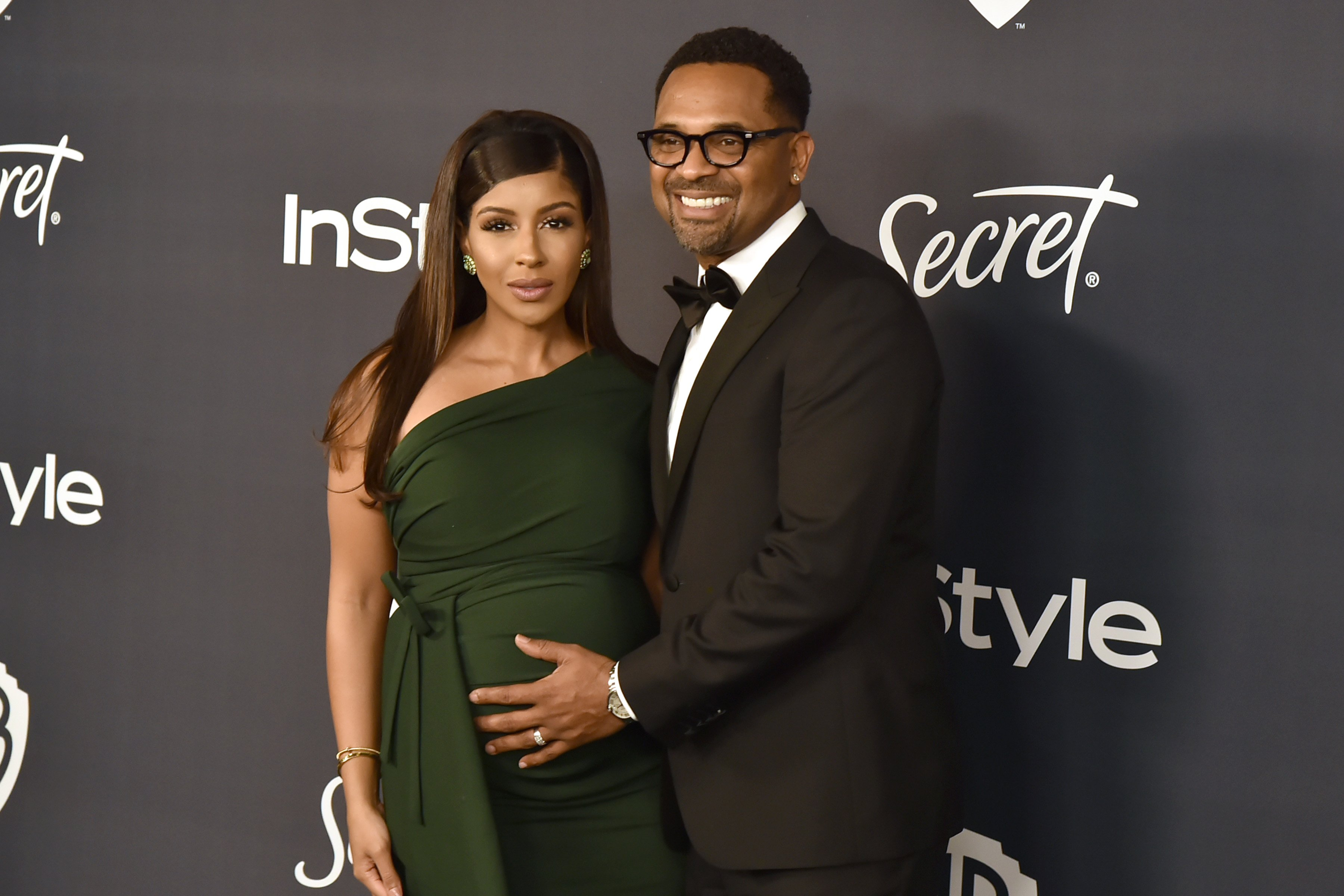 Kyra Robinson and Mike Epps on January 5, 2020 in Beverly Hills, California.   Photo: Getty Images