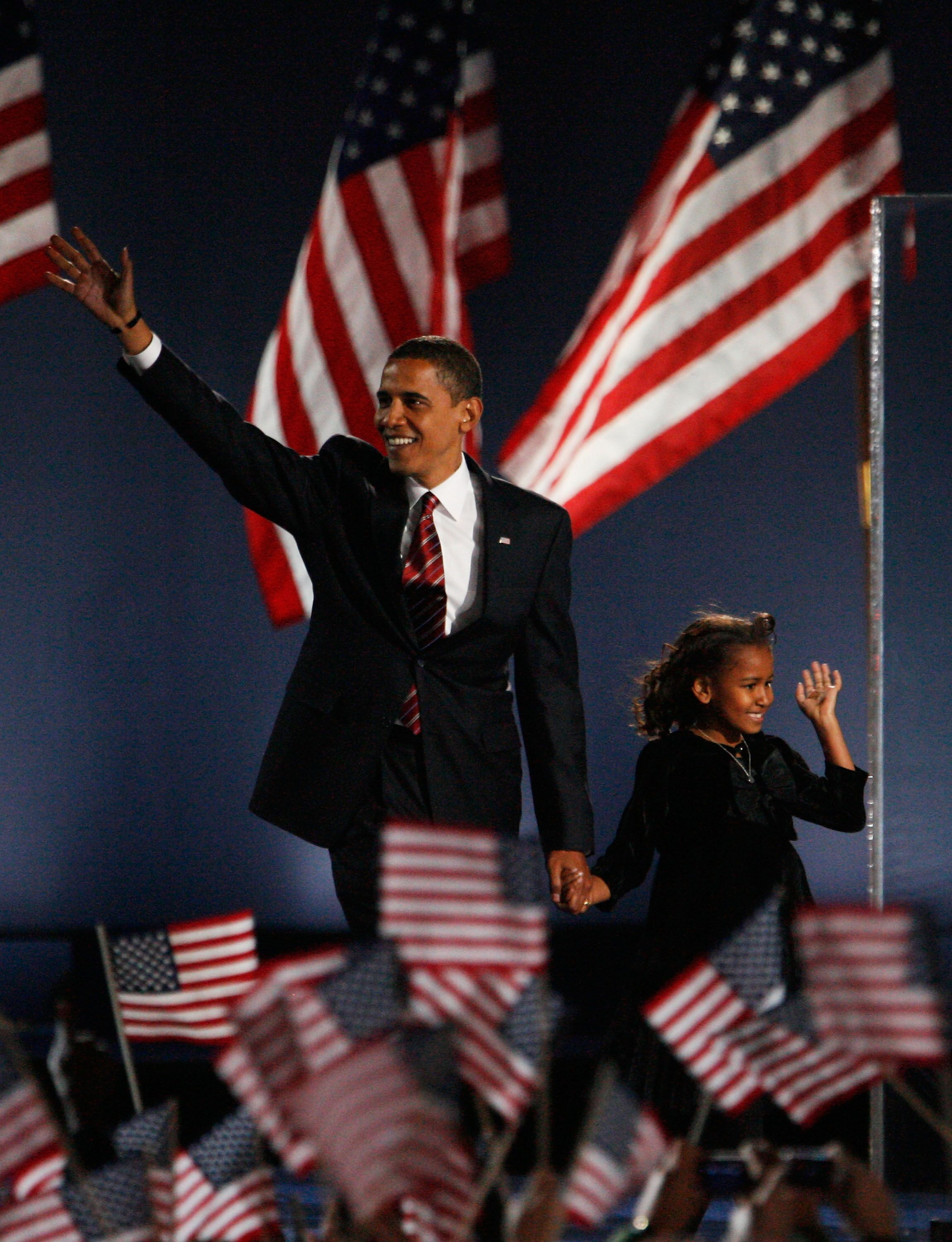Barack Obama lors de son élection. l Source : Getty Images