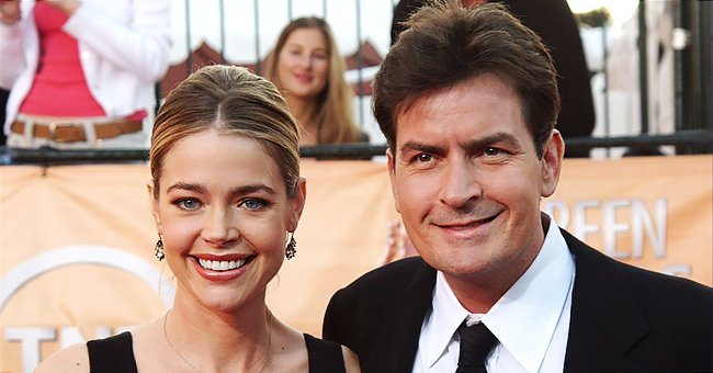 Denise Richards and Charlie Sheen at the Screen Actors Guild Awards on February 5, 2005   Photo: Jon Kopaloff/FilmMagic/Getty Images